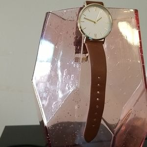 BRAND NEW Tan Faux Leather Ladies Watch